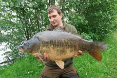 Chris mit einem Traumfisch von 25,5 Pfund