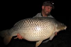 Die Donau ist immer für eine Überraschung gut: Martin mit 32 Pfund Schuppenkarpfen