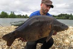 Was für ein markanter Fisch: Ein alter Recke von 24 Pfund