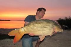 Balaton 2015: Matthias mit 25er bei Sonnenaufgang